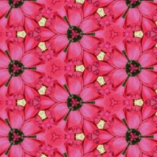 Six-Sided Rose Blossom Tessellation