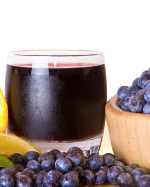 Blueberry Fruit Juice with anthocyanins