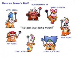 New to the series: Bowser's kids, the Koopalings.