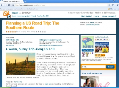 Planning a U.S. Road Trip: The Southern Route, #1 in Travel in April, 2009!