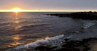 Sunrise on the coast of Mashpee.