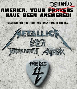 Metallica Slayer Megadeth Anthrax tour