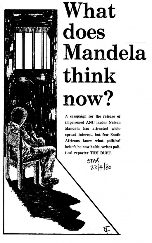 This article in the Johannesburg Star of 23 April 1980 shows how Mandela, in his invisibility, still influenced South African political discourse