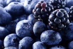 Blackberries and Blueberries