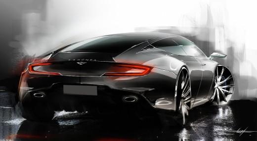 Aston Martin Lagonda Rendering by Bart de Graaff