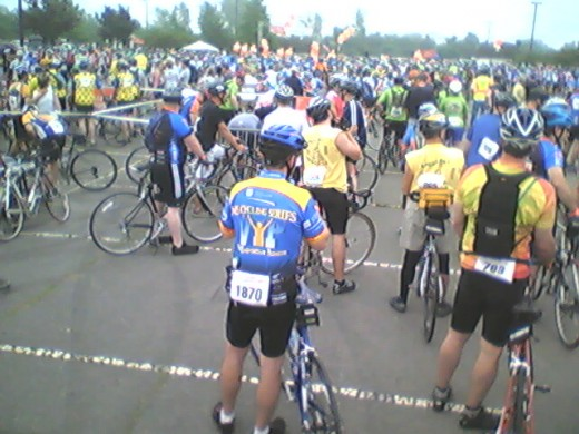 At the starting line