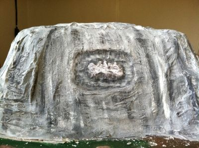 The Finished Replica of Stone Mountain!