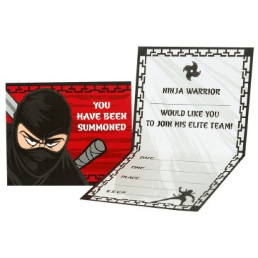 Ninja Party Invitations from Birthday Express