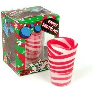 christmas dessert shooter peppermint glass