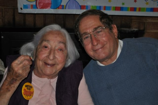 Mom and big brother Mike at her 95th birthday party. Sadly, she only lived 4 more months.