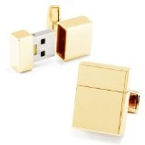 gold usb flash drive cufflinks for valentine's day
