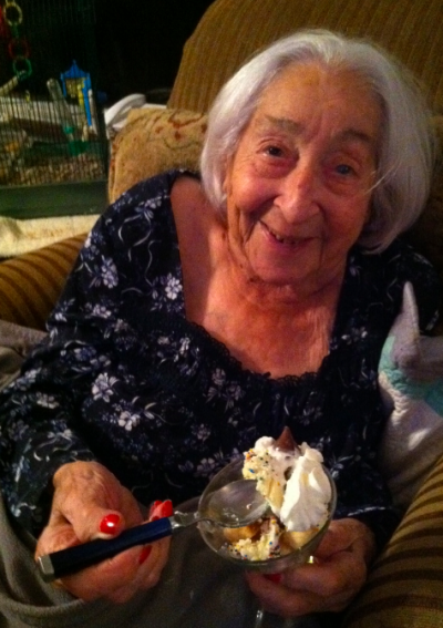 95 year old Mom loved her Kiss Me Goodnight dessert shooter