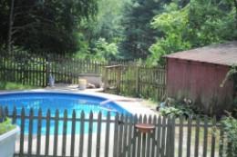 My backyard pool last summer
