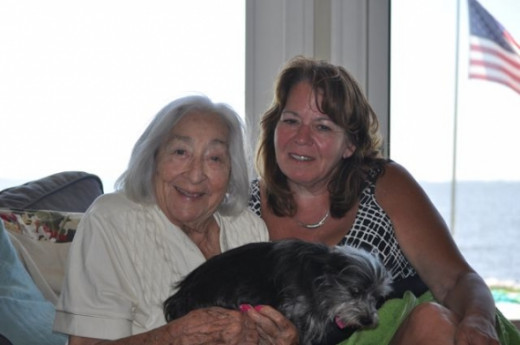 Mom and me at a beach house I rented last summer.