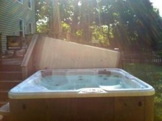 hot tub damage