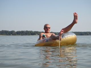 Relaxing on the float