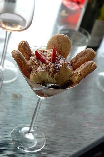 A tiramisu dessert shooter