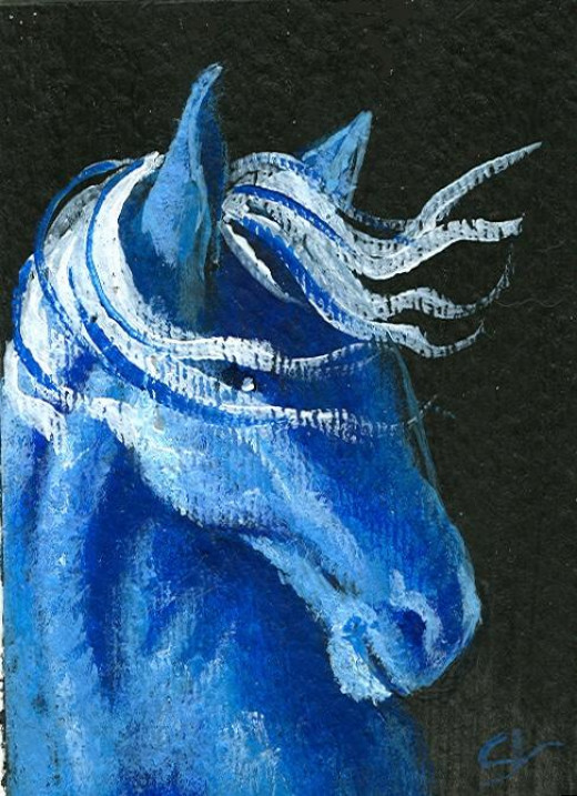 A spirit horse..waiting to guide.