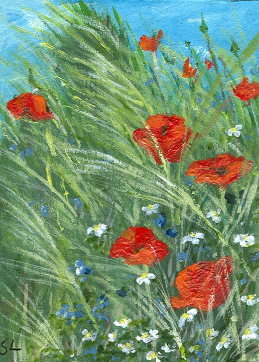 Sitting among Poppies