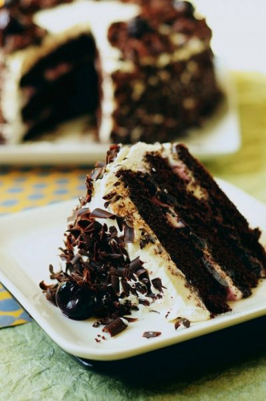 Look at this amazing slice of black forest cake!