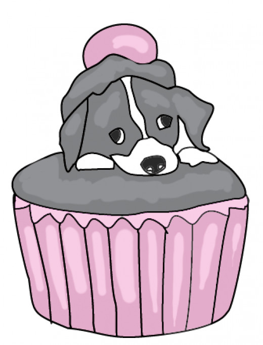 free puppy cupcake clipart