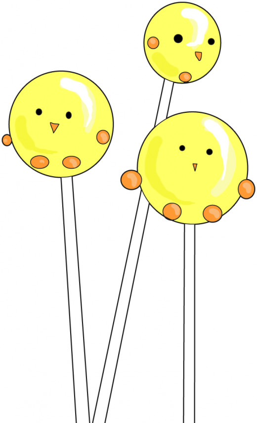 Free Easter Chick Cake Pop Clipart