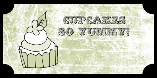 free cupcake image gift tag vintage