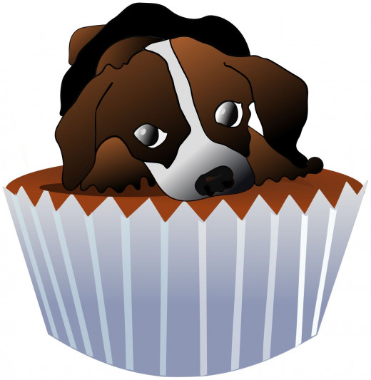 Puppy cupake clipart