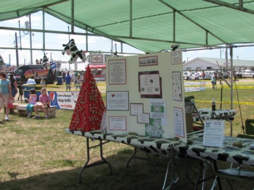 CAER Food Shelf Tent & Display at the Fairgrounds