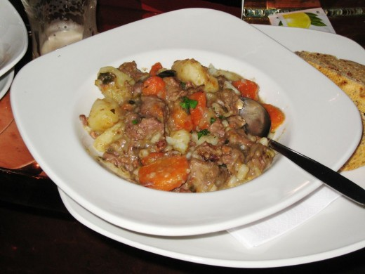 Irish stew with guinness