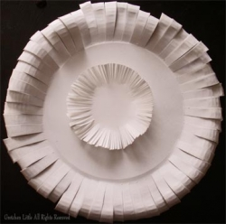 Paper Plate Flower #6 by Gretchen Little All Rights Reserved