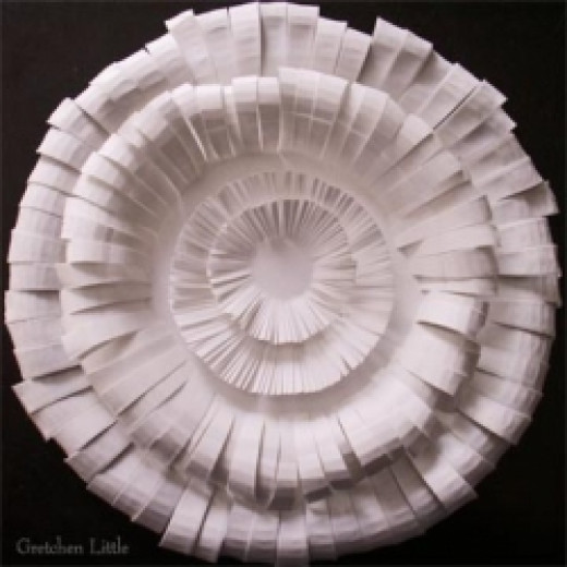 Full Paper Plate Flower by Gretchen Little  All Rights Reserved