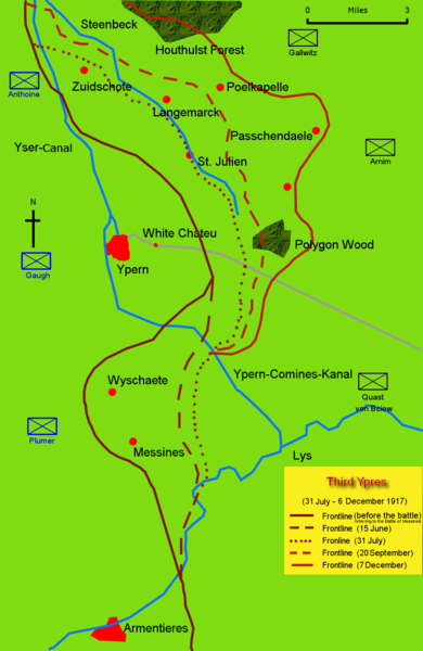 Map of the Battle of Passchendaele