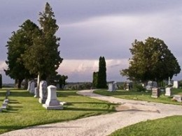 Cemetery Storm by Gretchen Little - All Rights Reserved