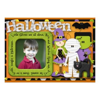 Click to learn more about this cute personalized Halloween invitation.