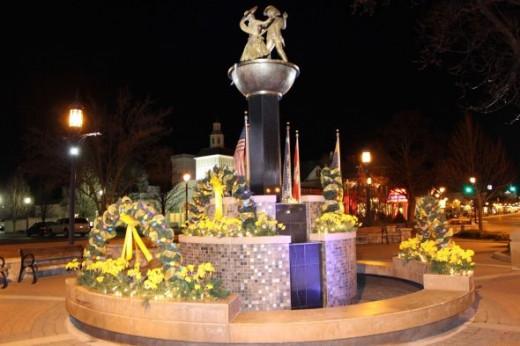 Zehnder's Dancing Statue Fountain