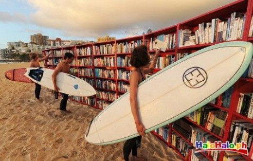Book awareness at Bondi Beach, Australia