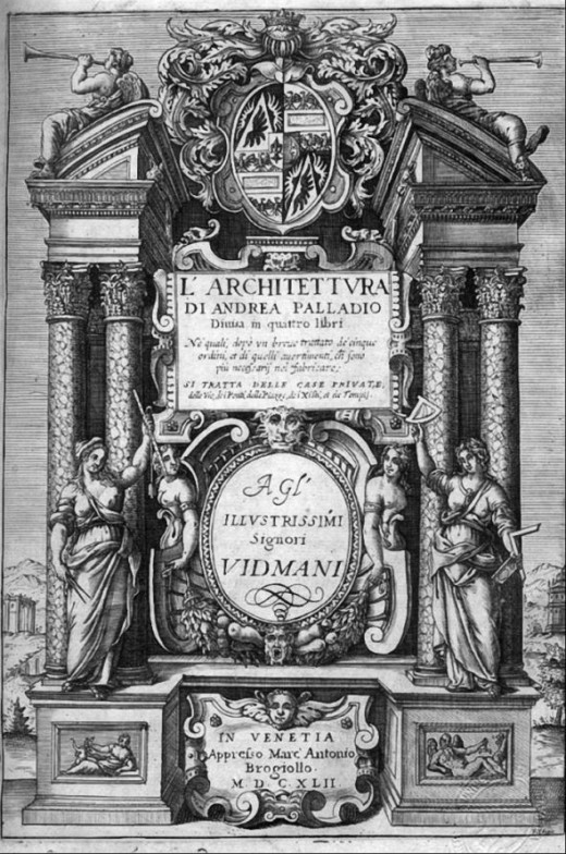 Title page of Palladio's Four Books of Architecture