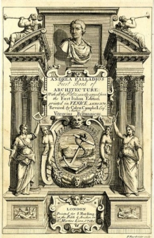 Campbell's 1728 edition of Palladio's first book of architecture.