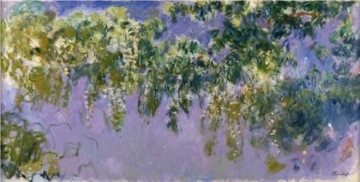 Wisteria, by Monet, public domain