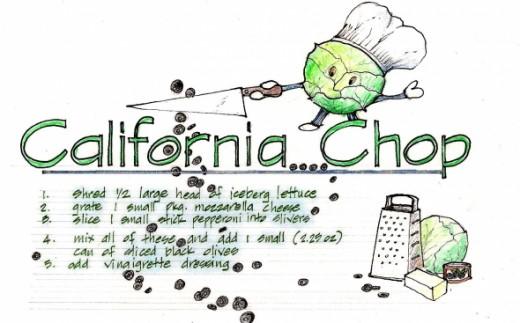 my Kid's invented recipe: California Chop salad