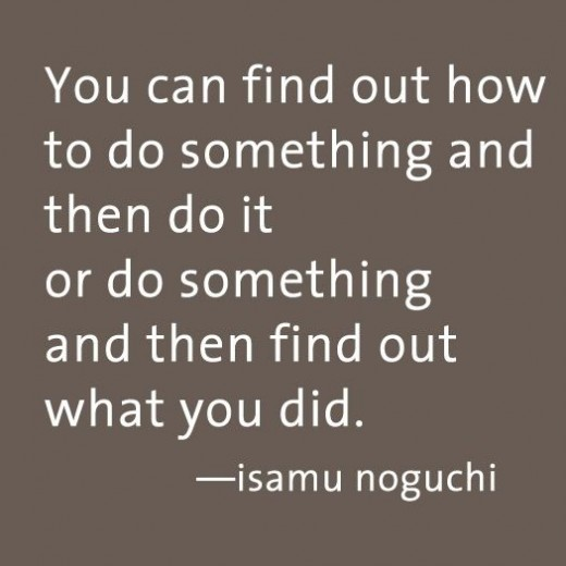 Isamo Noguchi quote (click to read more about his creative process)