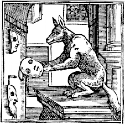 16th C Fox with masks - Wikipedia Commons