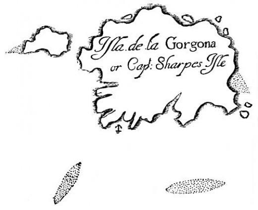 The Isle of Gorgona (Gorgons? Shiver me timbers!)