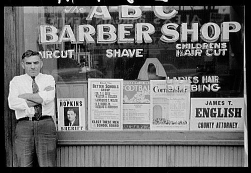 Barber Shop, public domain