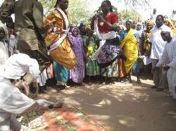 Zaghawa village celebration