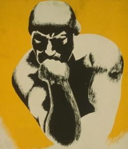 "WPA poster ""The Thinker"" (modified from Vintage Printable)"