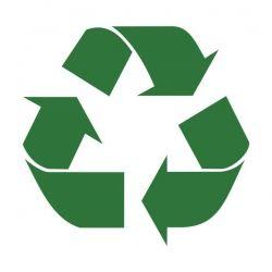 recycling symbol courtesy of wikimedia