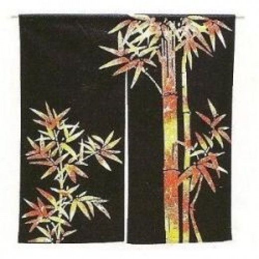 Japanese noren door curtain