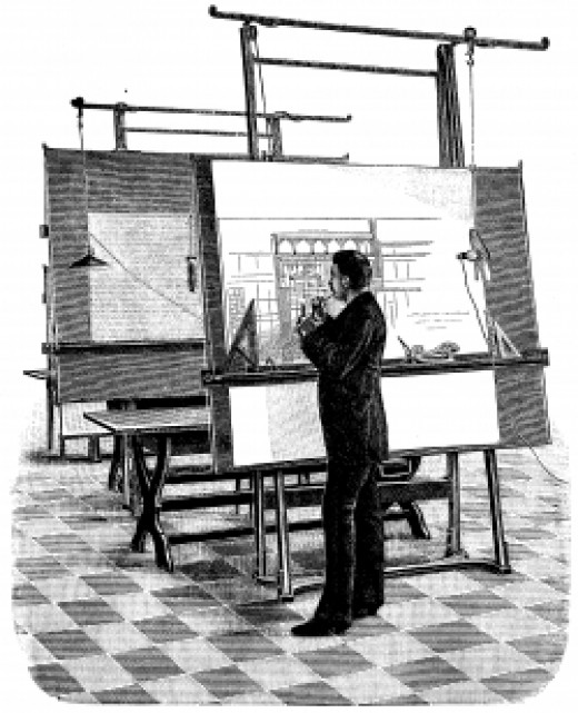 A drafting board... that won't fit in your dorm.